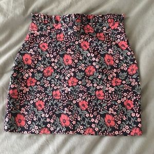 cdd24dd9a58871 Topshop Skirts | Petite Poppy Jacquard Mini Skirt | Poshmark